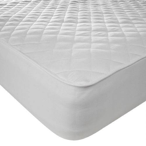 100% Cotton Mattress Protector Fully Fitted - 38cm Elasticated Skirt